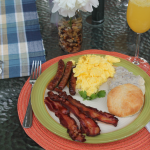 Breakfast for Dinner ~ A garden party