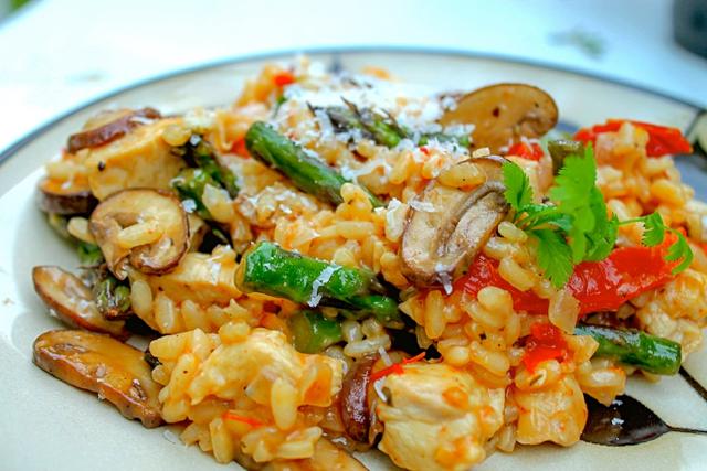 Chicken and sundried tomato risotto