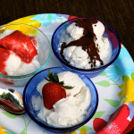 Coconut Ice Cream and toppings ~ Dairy Free, Gluten Free Grand Finale!