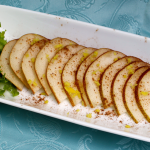 What a Pear! ~ An energizer snack plus tips on how to have an endless supply of fresh ginger!