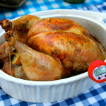 Roasted Organic Chicken ~ Homemade Broth