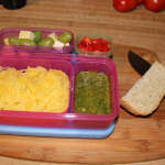 Baked Spaghetti Squash with Pesto Sauce for your Lunch Box