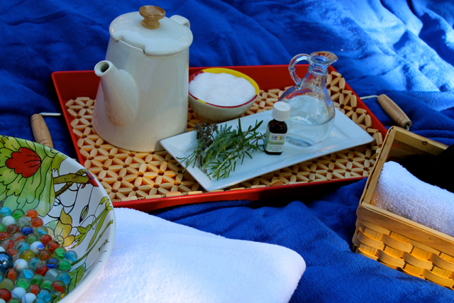 Scented Salt Soak and Herbal Poultice