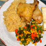 Pressure Cooker Chicken and Rice Dinner