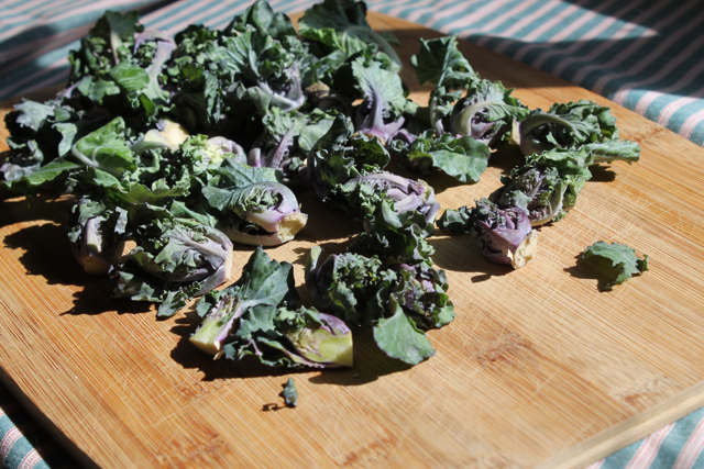 Kale Sprouts Sauteed in Toasted Garlic Butter