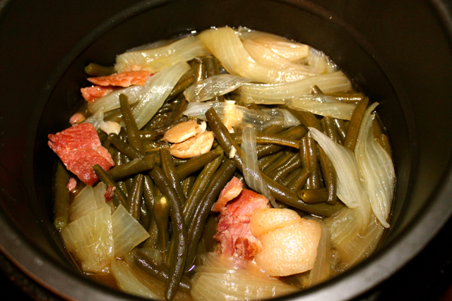 pressure cooked green beans