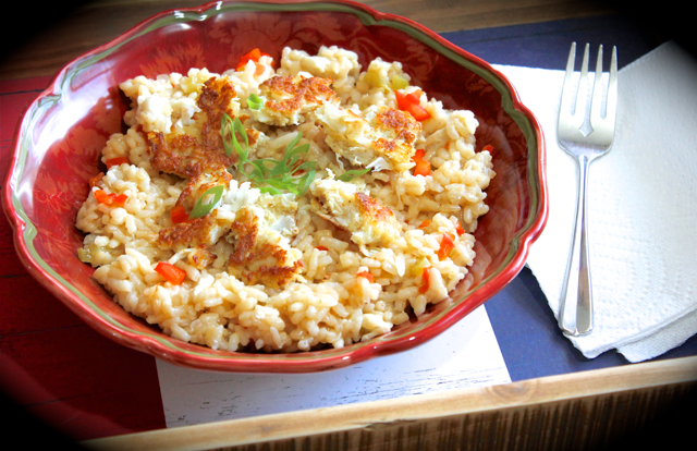 Crab Risotto if you love crab cakes and you love risotto, you're gonna LOVE this recipe. Why not have your cake and eat it too?