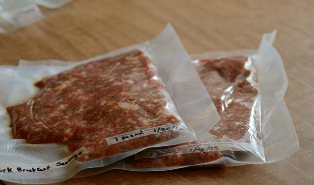 Freezing Sausage patty mix