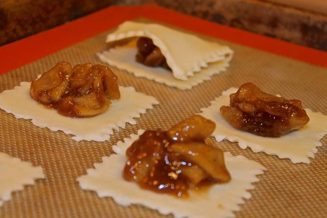mini apple pies ready to bake