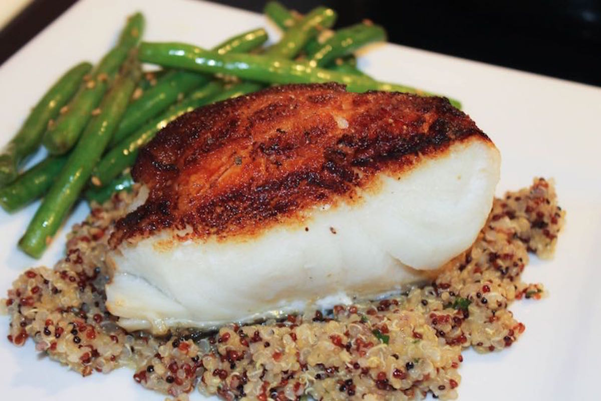 Pan seared sea bass overcoming fish fears happy belly for Turkish sea bass recipe