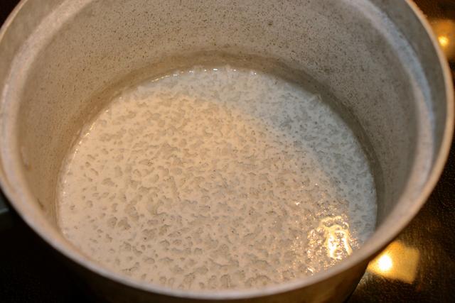 coconut milk separated