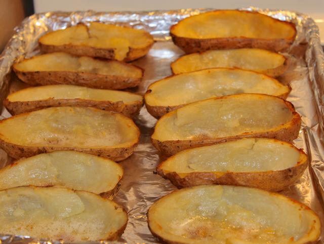 toasted potato skins