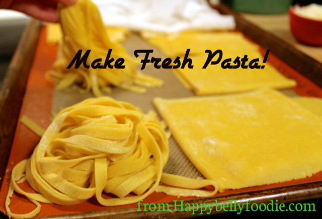 Fresh Pasta with THE best Alfredo Sauce is a meal your crew will ask for all the time. Delish! from Happybellyfoodie.com