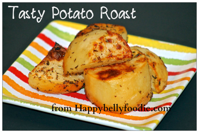Tasty Potato Roast sometimes all you need is a simple, delicious side dish for your meal. Get this easy recipe at Happybellyfoodie.com