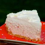 No Bake Strawberries and Cream Cheesecake