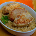 Pressure Cooker Brined Pork Chops and Brown Rice