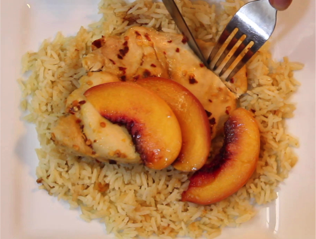 Instant Pot Spicy Peach Chicken - Happy Belly Foodie