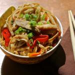 Instant Pot Thai Peanut Chicken Lo Mein