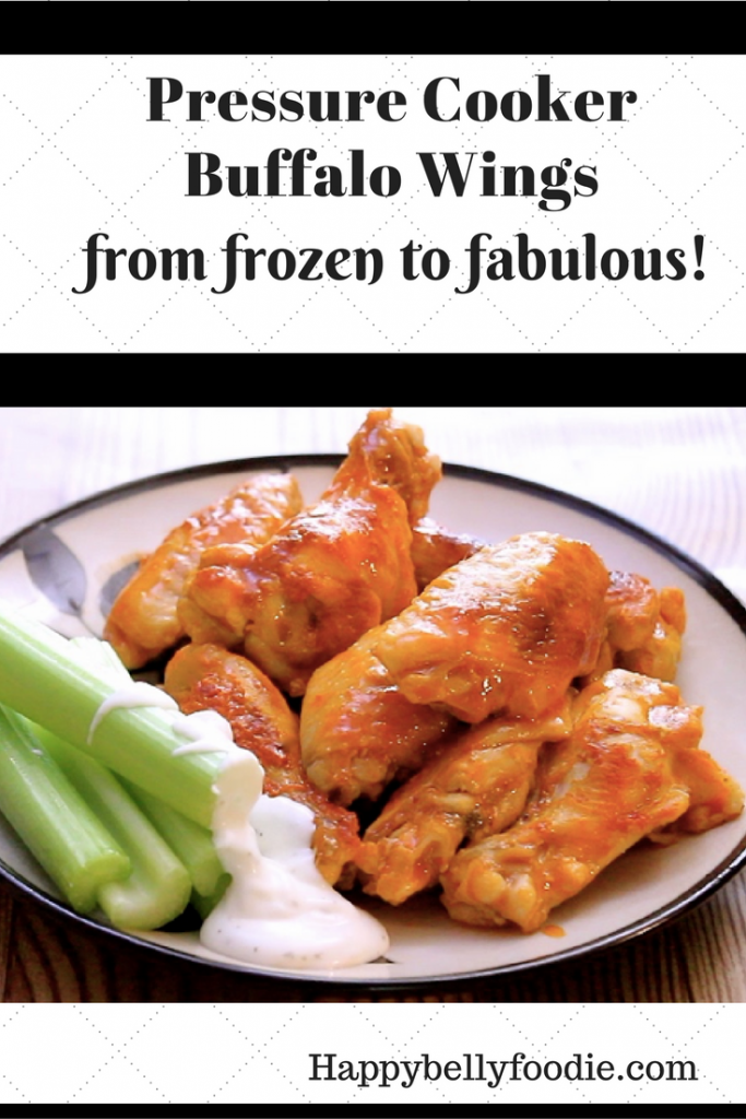 Pressure Cooker Buffalo Wings ~ From Frozen to Fabulous are perfect for football fans. Make 'em quick and always keep it delicious!