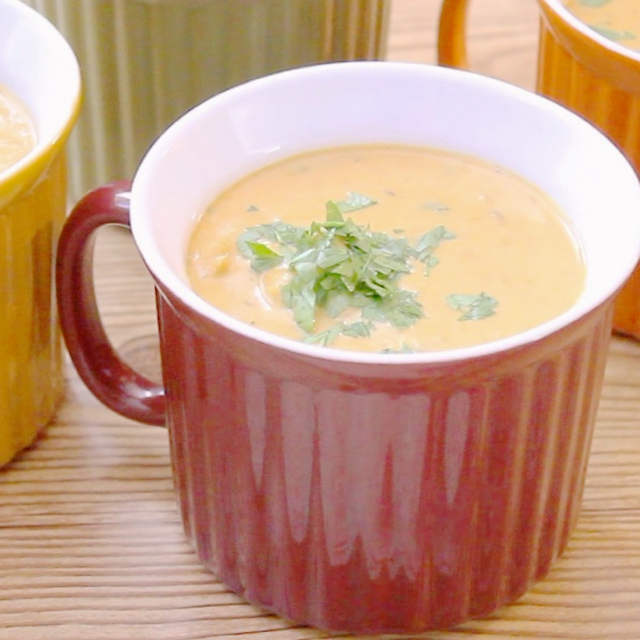 Pressure Cooker Mulligatawny Soup will embrace you with it's warm tones and lovely layered spices. Make this for a wonderfully cozy dinner!