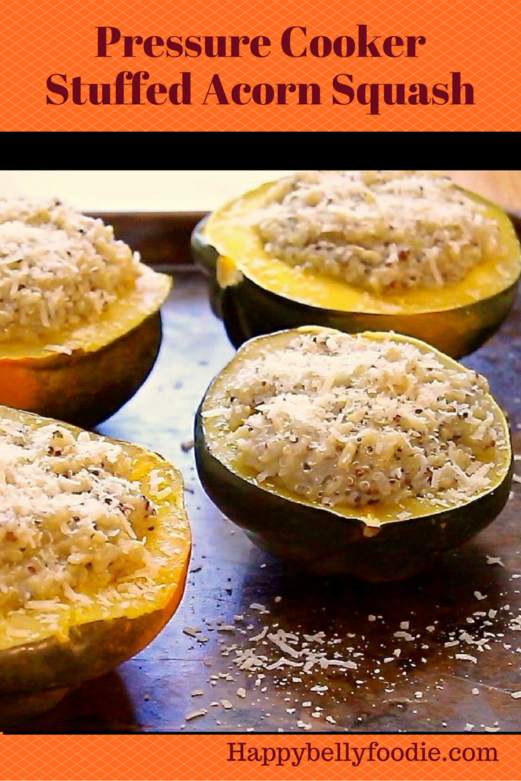 Pressure Cooker Stuffed Acorn Squash is a beautiful Autumn treat you can enjoy as a side dish or as the meal itself. Delish!