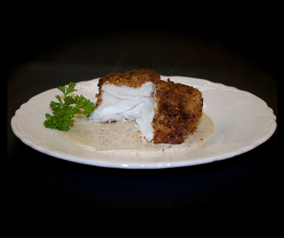 Pecan Crusted Halibut with Dijon Mustard Sauce is a delicious, healthy dish that you can make in a jiffy! Fresh is always best!